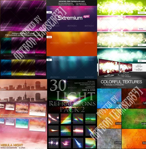 GraphicRiver Colorful Abstract Backgrounds Pack 5 (Updated)